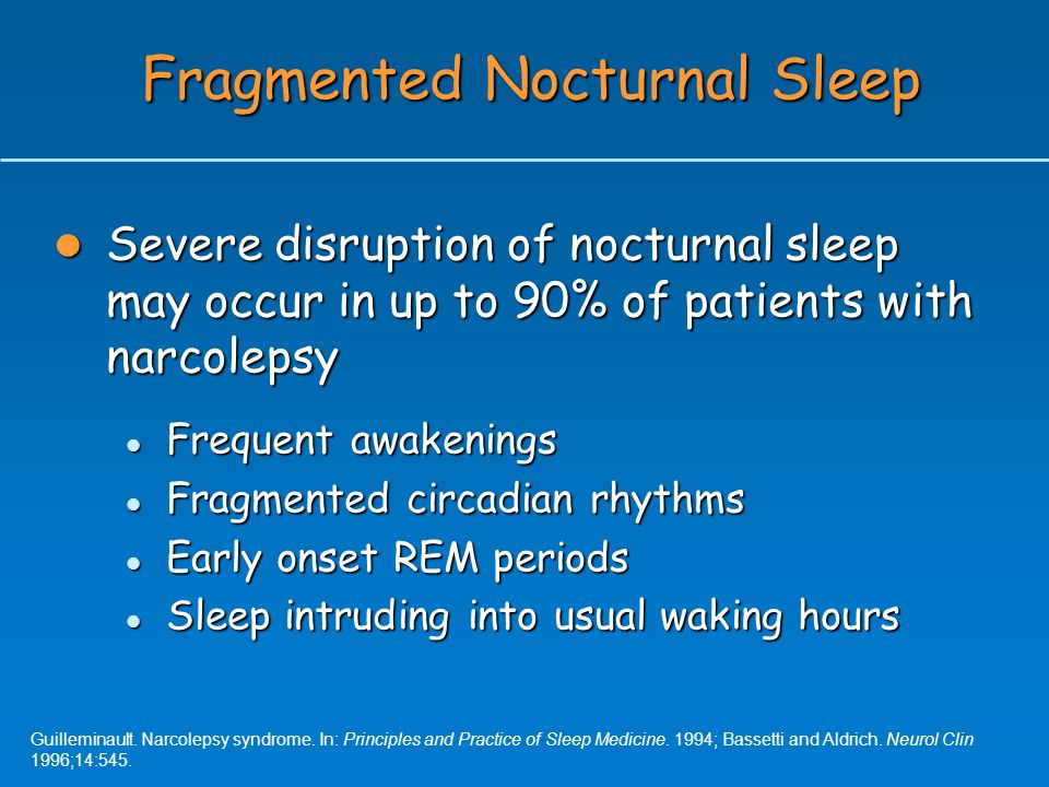 Fragmented Nocturnal Sleep