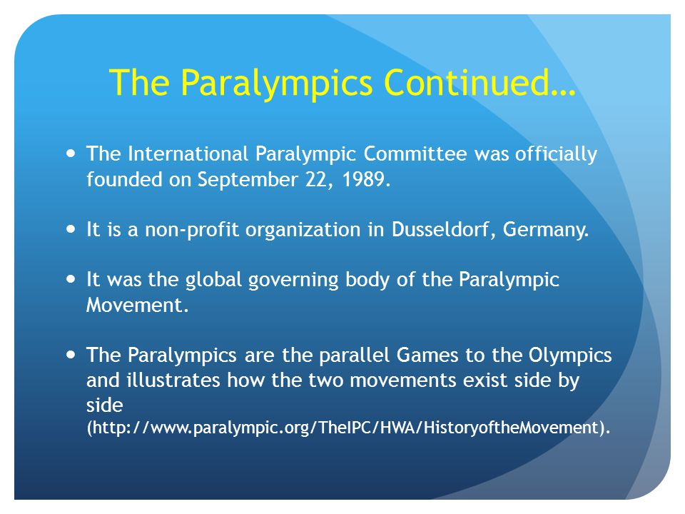 The Paralympics Continued…