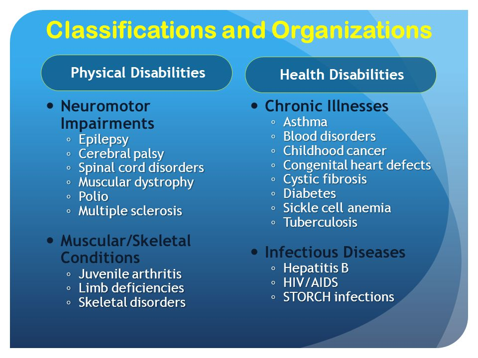 Classifications and Organizations