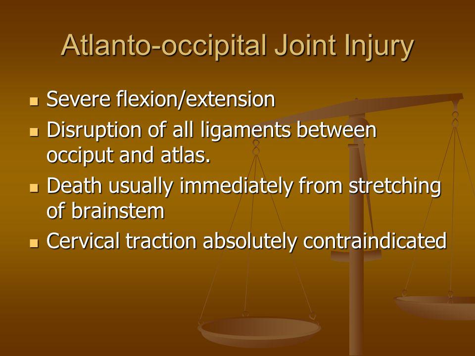 Atlanto-occipital Joint Injury
