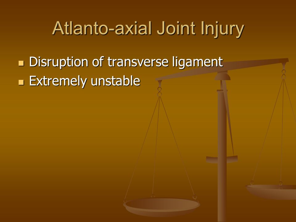Atlanto-axial Joint Injury