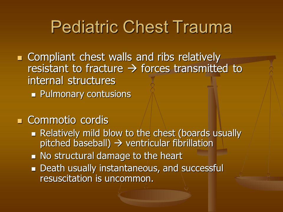 Pediatric Chest Trauma