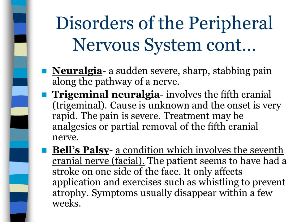 Disorders of the Peripheral Nervous System cont…