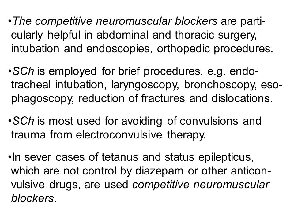 The competitive neuromuscular blockers are parti-