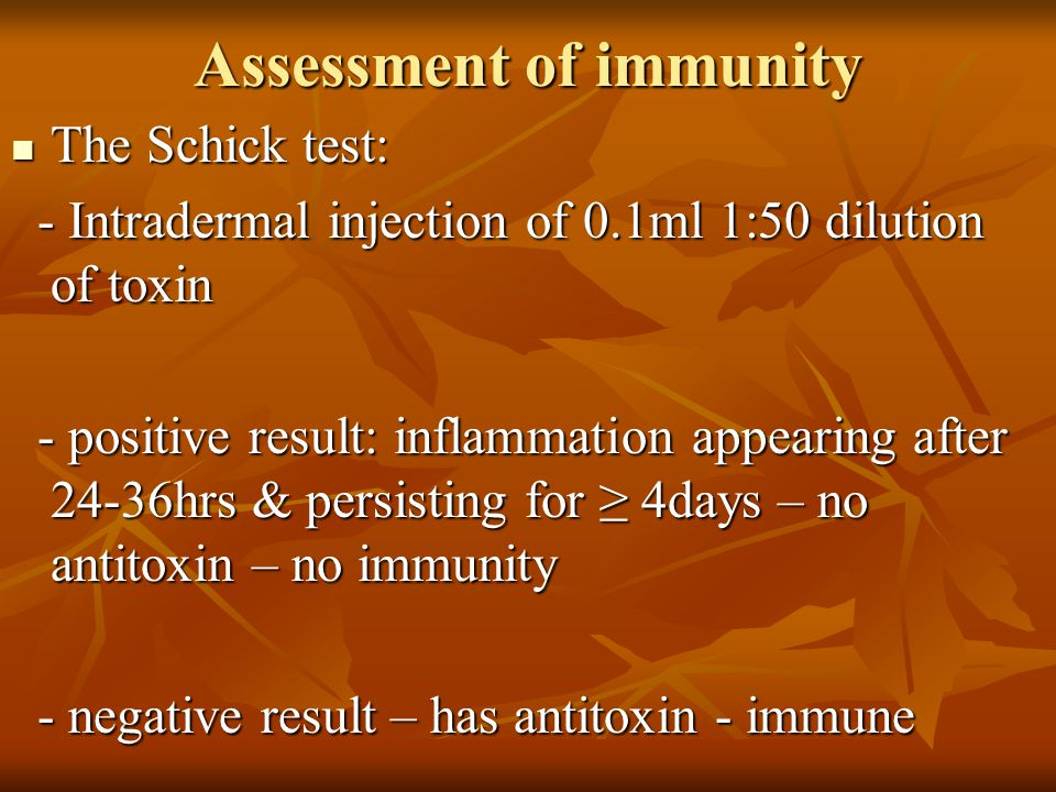Assessment of immunity