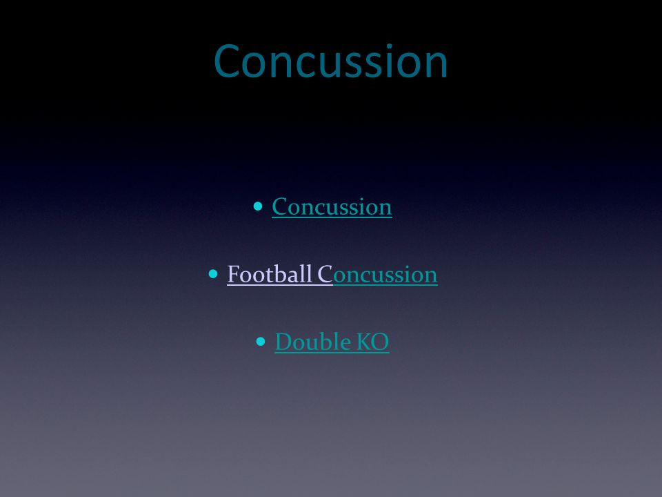 Concussion Concussion Football Concussion Double KO