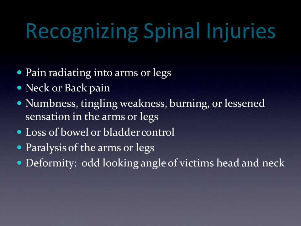 Recognizing Spinal Injuries