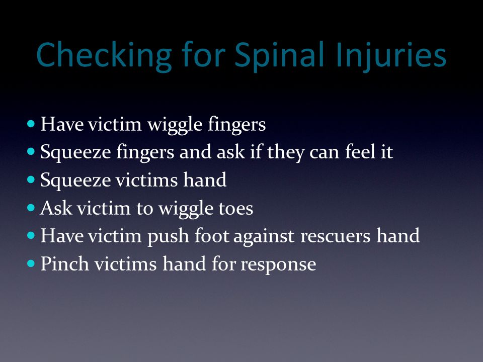 Checking for Spinal Injuries