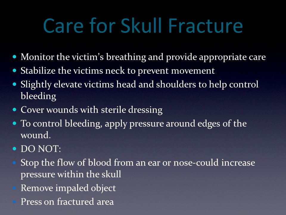 Care for Skull Fracture