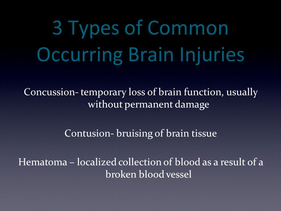 3 Types of Common Occurring Brain Injuries