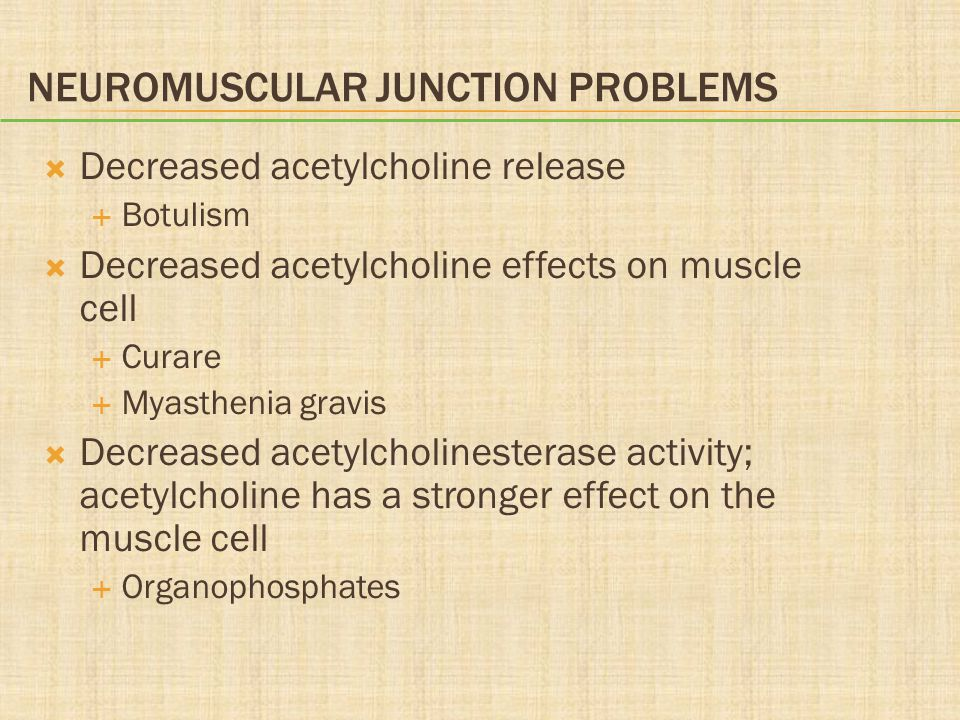 Neuromuscular Junction Problems