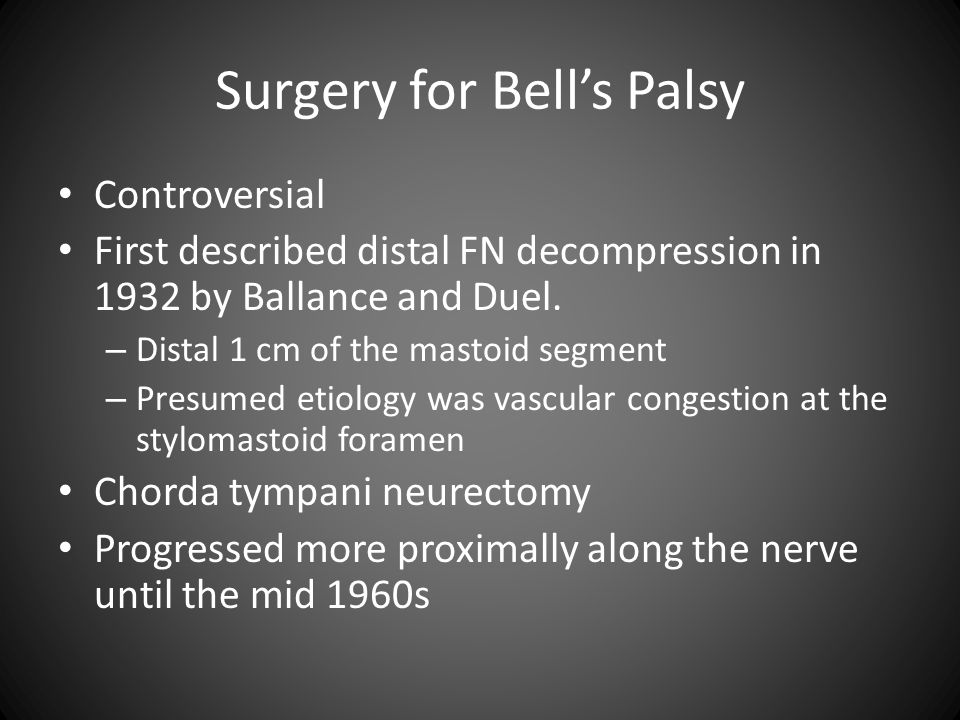 Surgery for Bell's Palsy