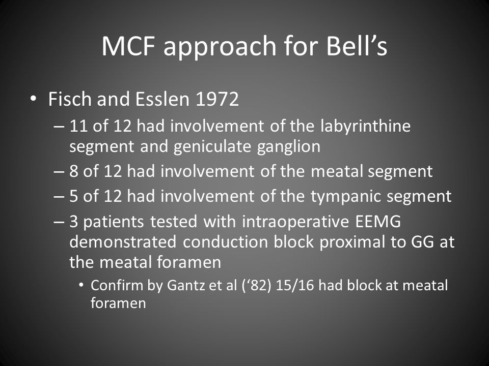MCF approach for Bell's