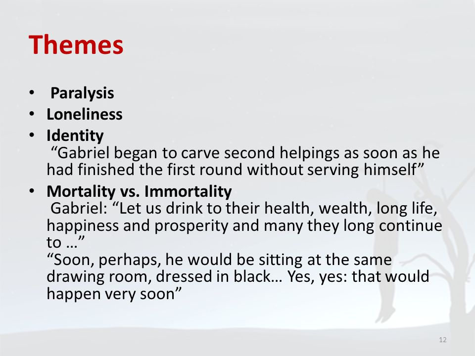Themes Paralysis Loneliness