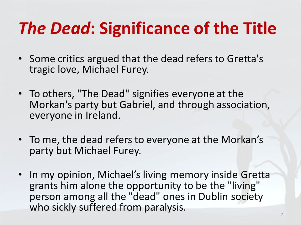 The Dead: Significance of the Title
