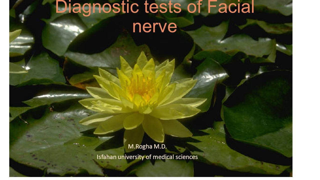 Diagnostic tests of Facial nerve