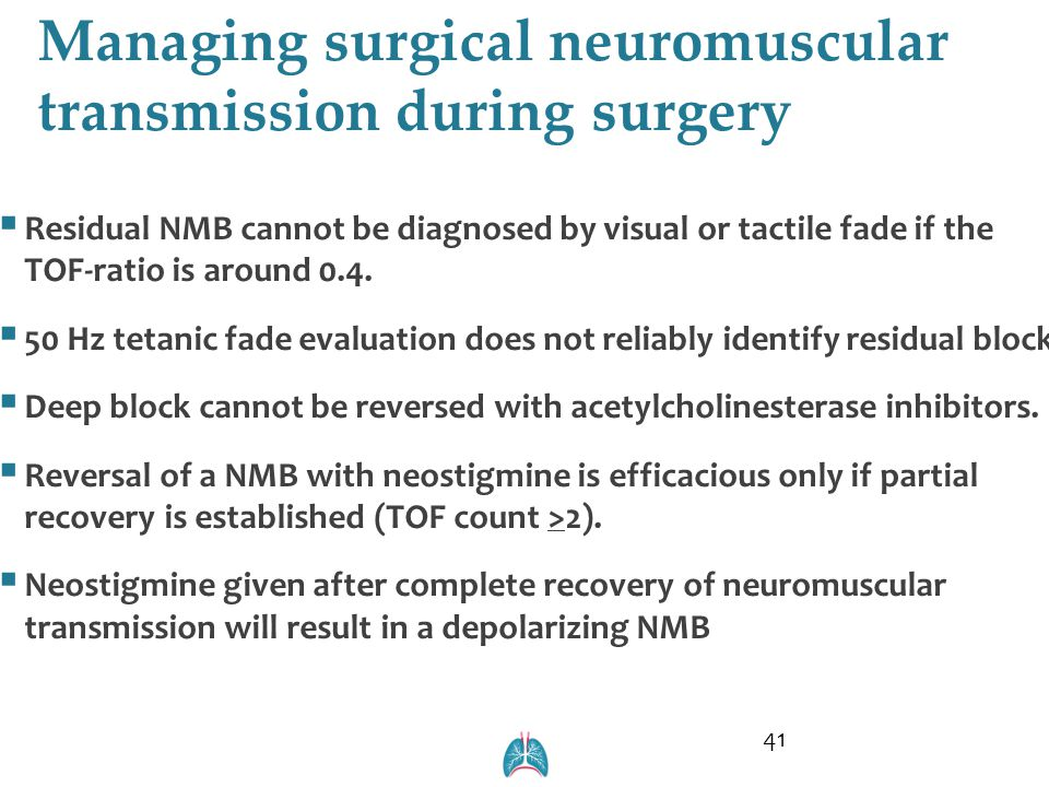 Managing surgical neuromuscular transmission during surgery