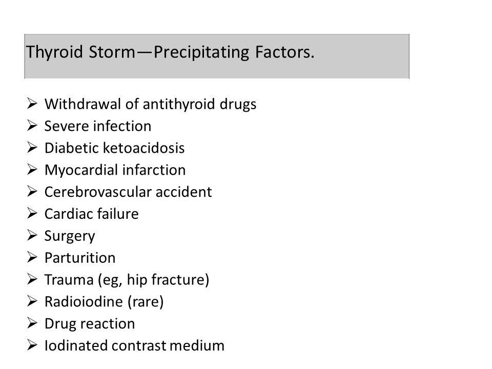Thyroid Storm—Precipitating Factors.