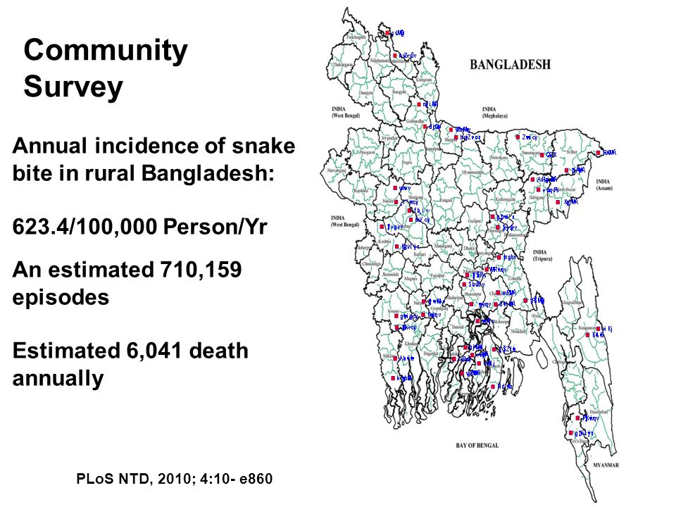 Community Survey Annual incidence of snake bite in rural Bangladesh: