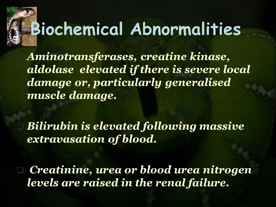 Biochemical Abnormalities