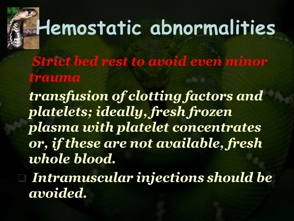 Hemostatic abnormalities