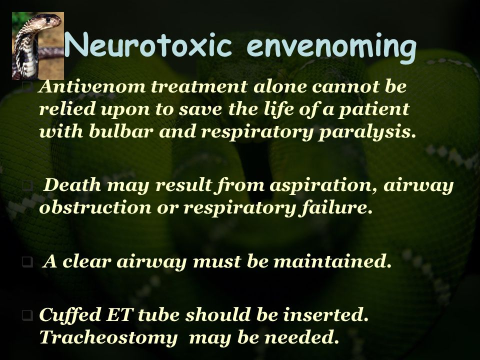 Neurotoxic envenoming