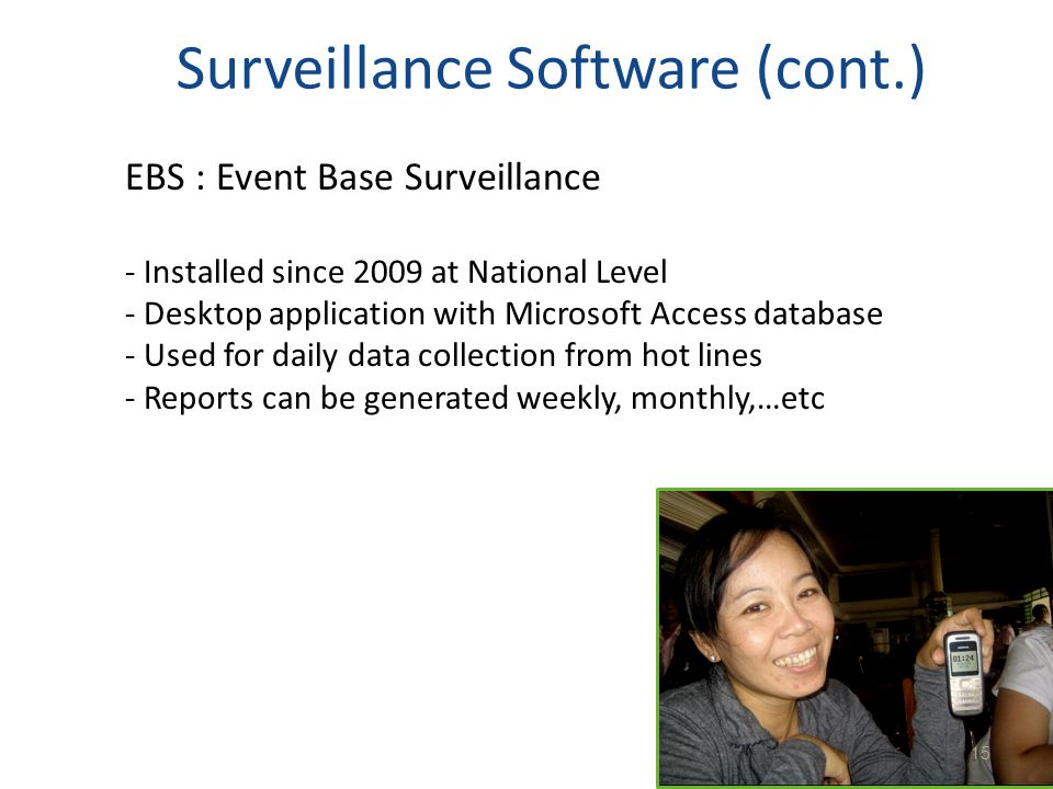 Surveillance Software (cont.)