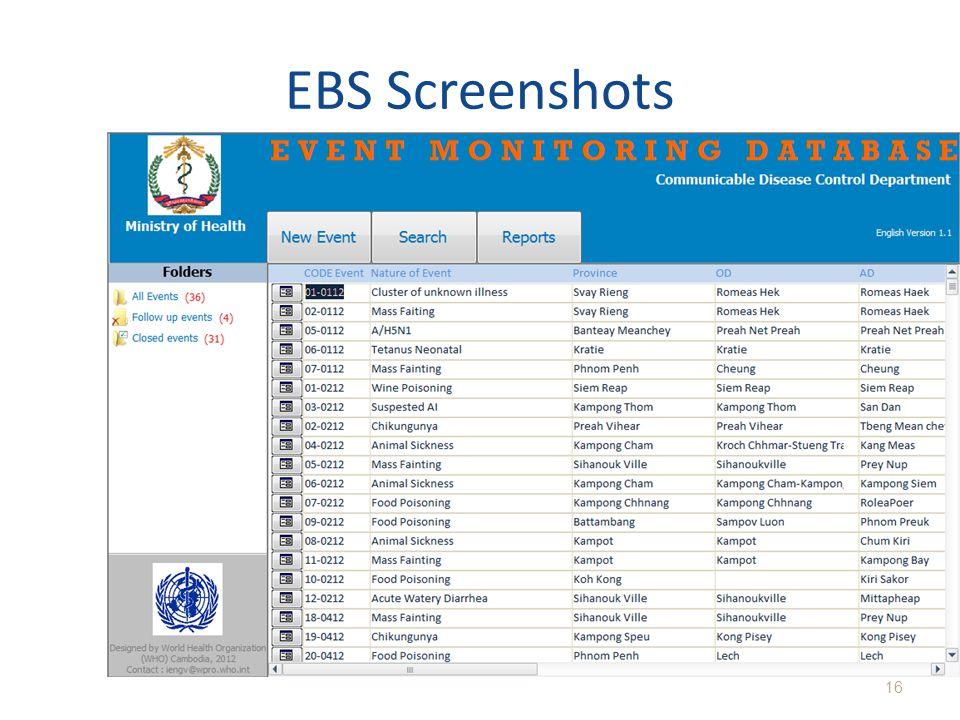 EBS Screenshots