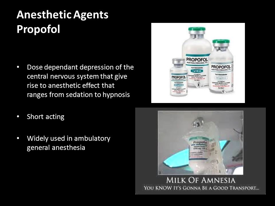 Anesthetic Agents Propofol