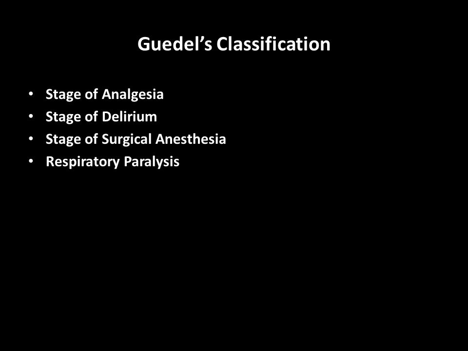 Guedel's Classification