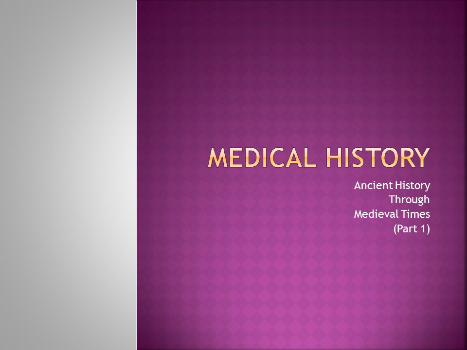 Ancient History Through Medieval Times (Part 1)