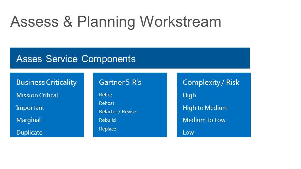 Assess & Planning Workstream
