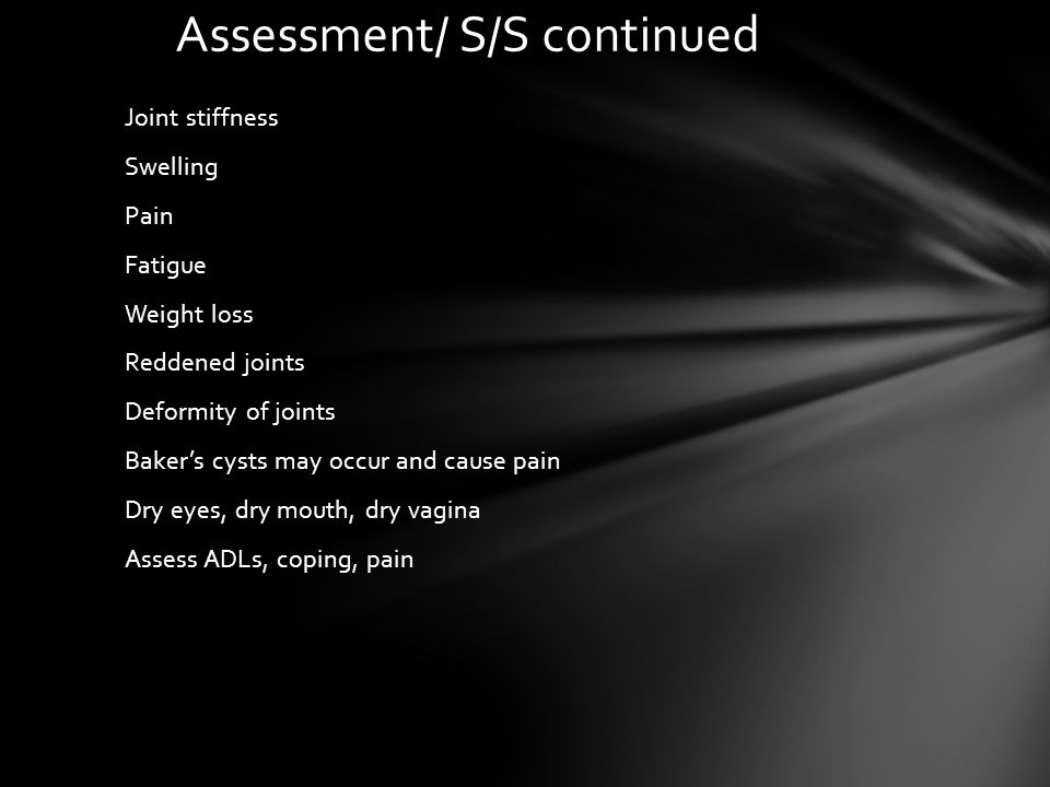 Assessment/ S/S continued