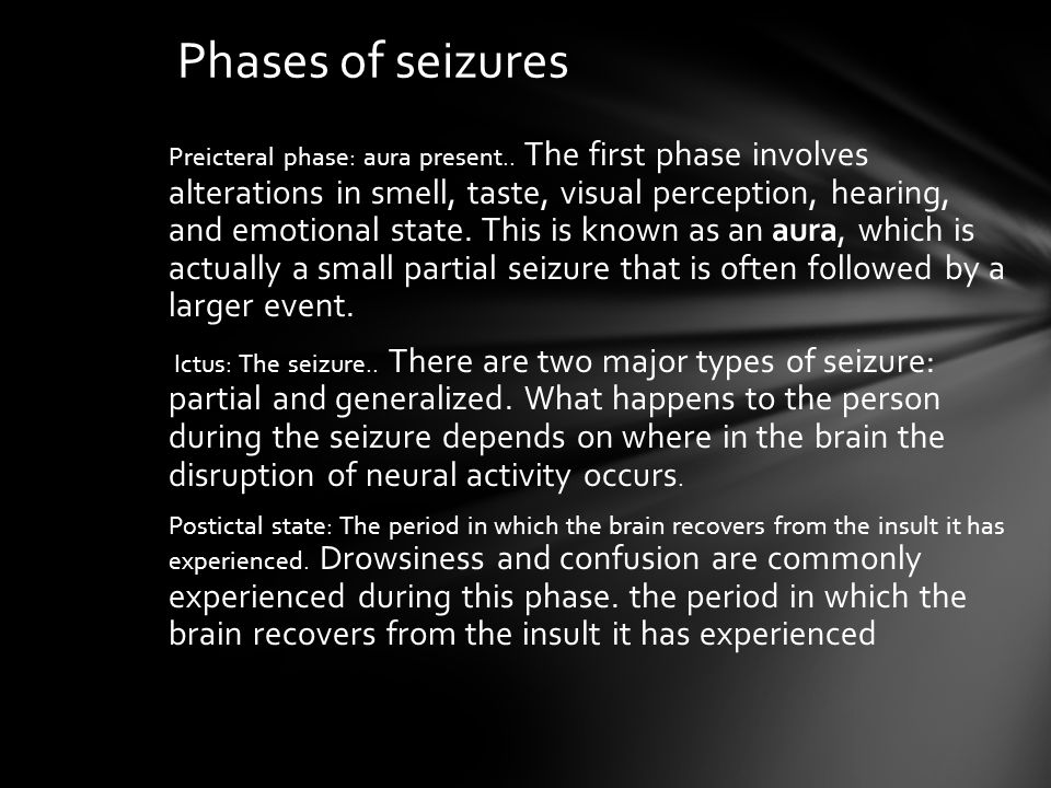 Phases of seizures