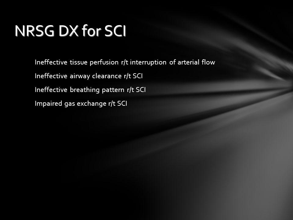 NRSG DX for SCI