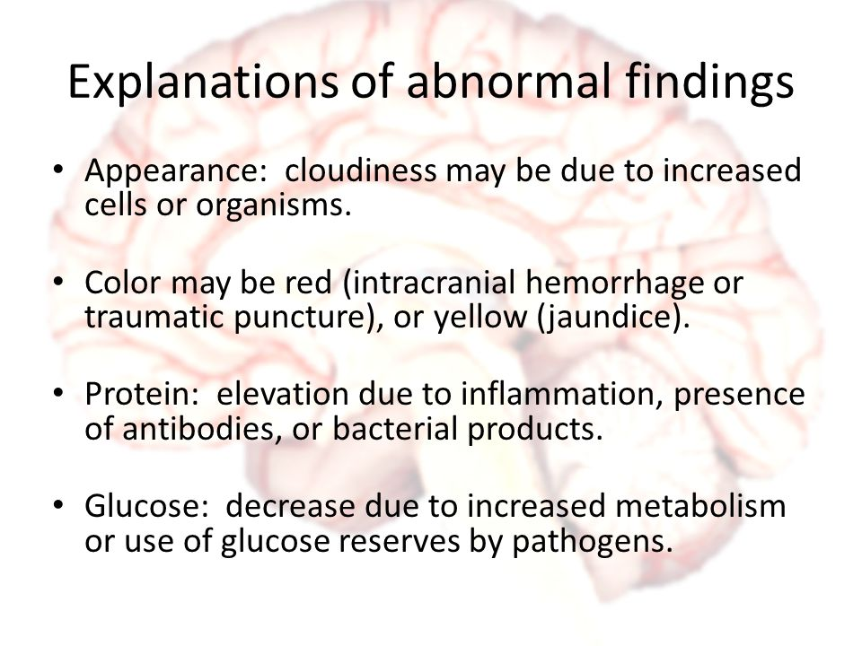 Explanations of abnormal findings