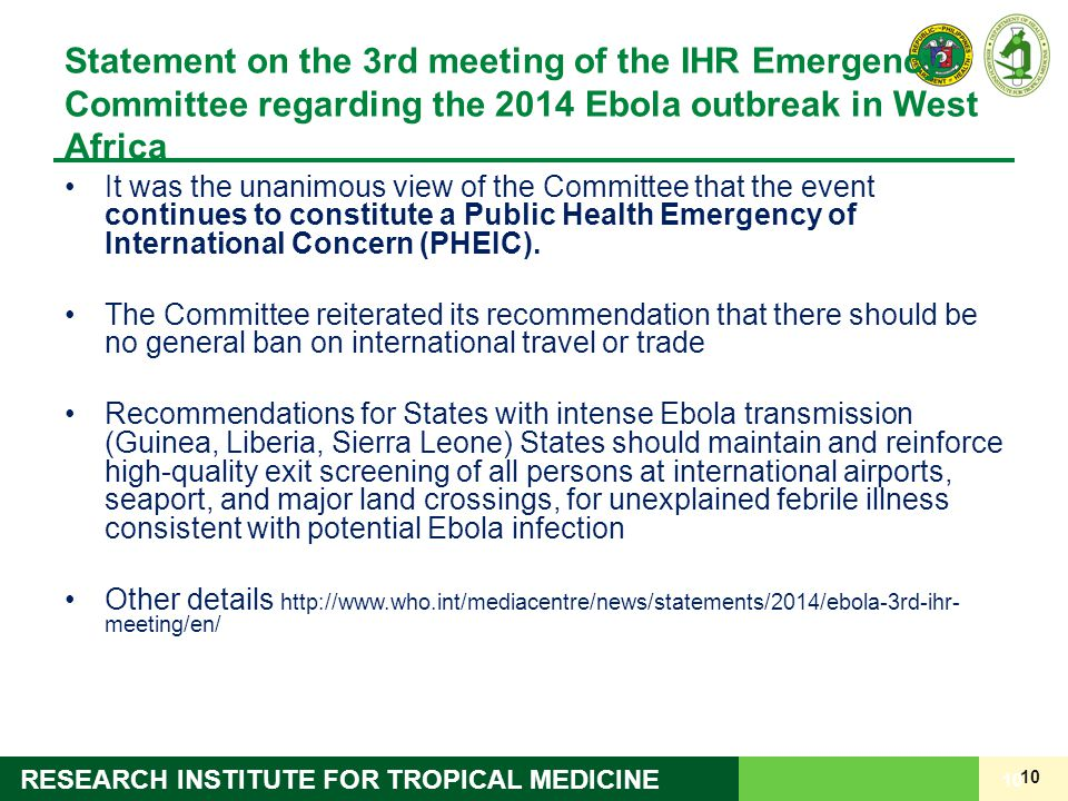 Statement on the 3rd meeting of the IHR Emergency Committee regarding the 2014 Ebola outbreak in West Africa