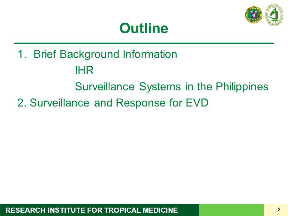 Outline Brief Background Information IHR