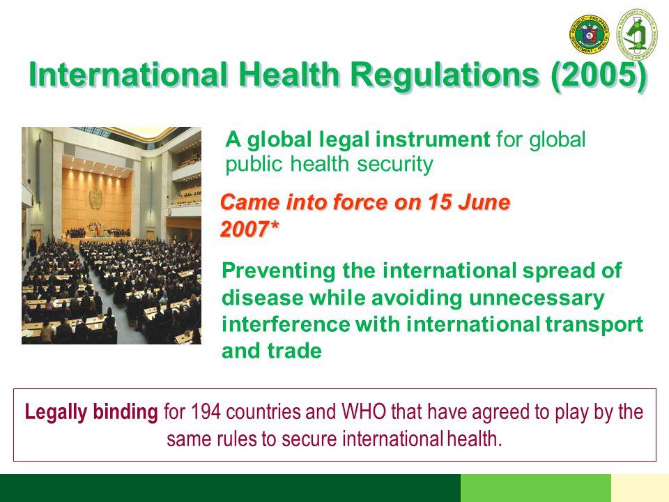 International Health Regulations (2005)