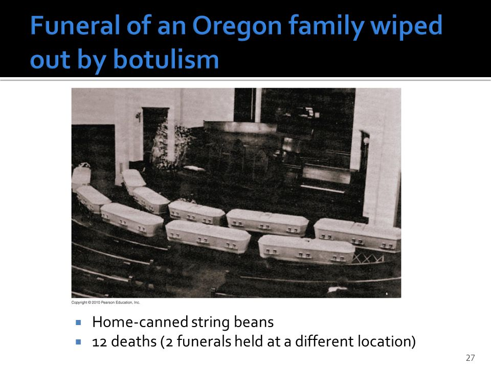 Funeral of an Oregon family wiped out by botulism