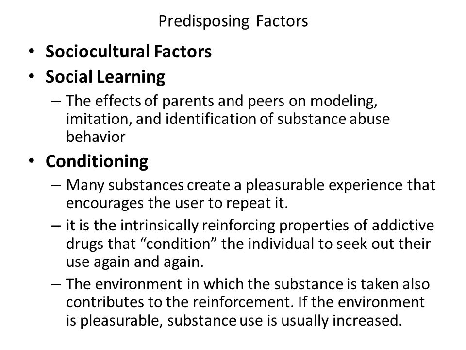Sociocultural Factors Social Learning