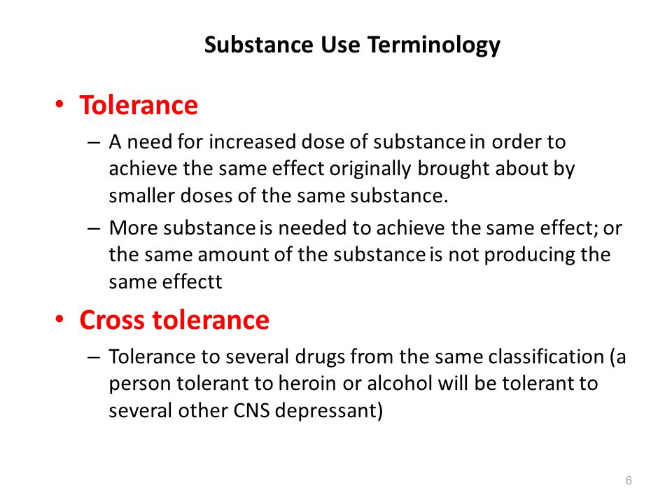 Substance Use Terminology