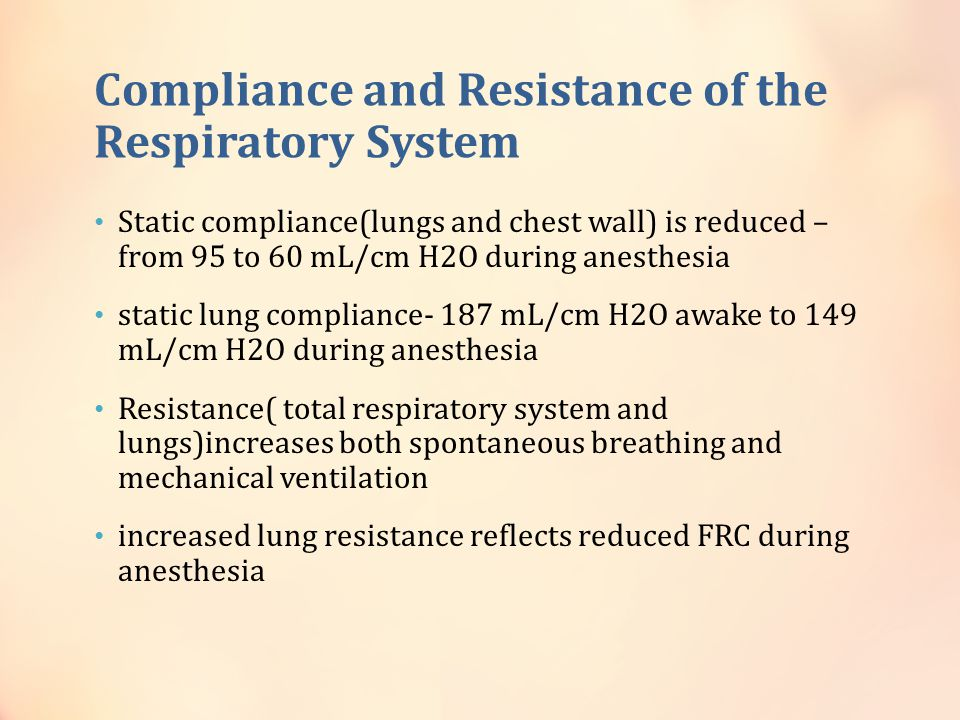 Compliance and Resistance of the Respiratory System