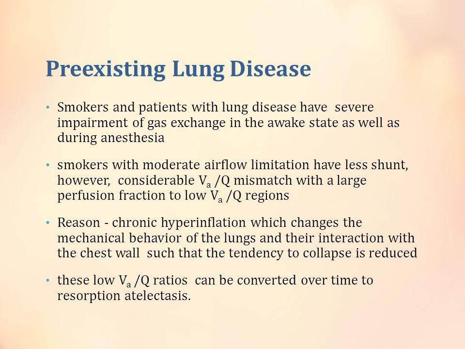 Preexisting Lung Disease
