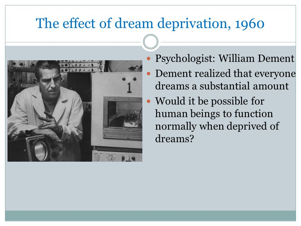 The effect of dream deprivation, 1960