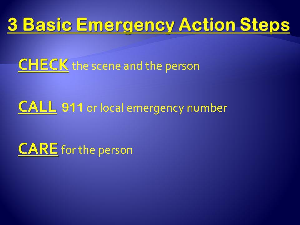 3 Basic Emergency Action Steps
