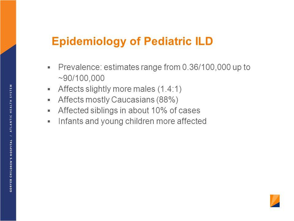 Epidemiology of Pediatric ILD