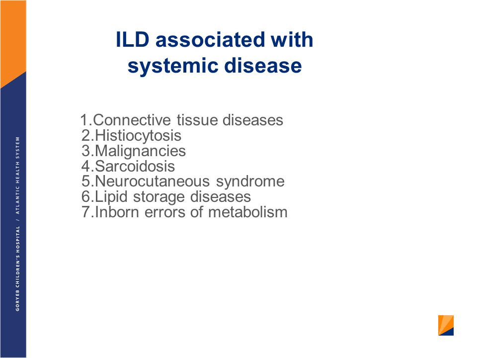 ILD associated with systemic disease
