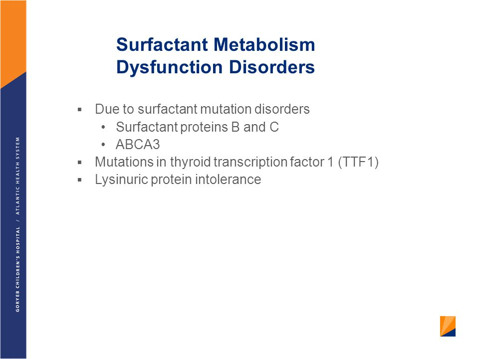 Surfactant Metabolism Dysfunction Disorders