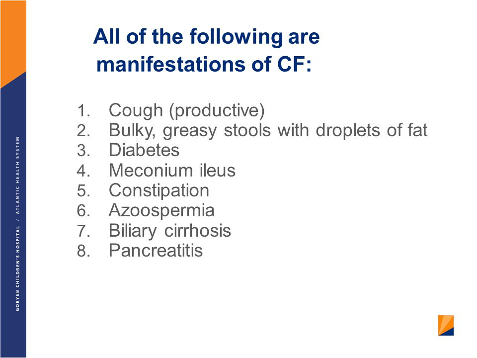All of the following are manifestations of CF: